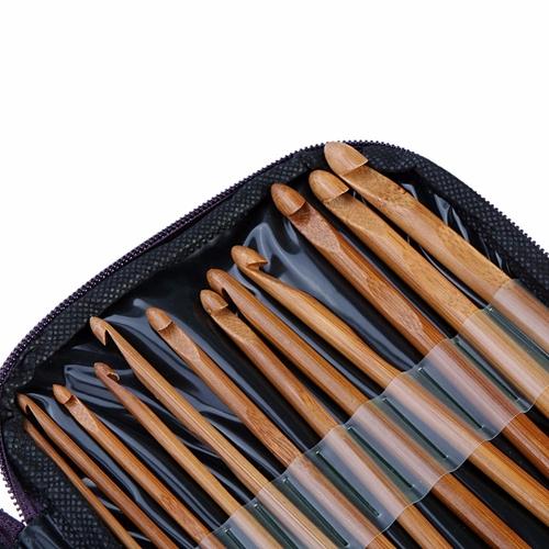 12//20pcs Bamboo Crochet Hooks Set Baby Knitting Needles Diy Weave Needle Craft
